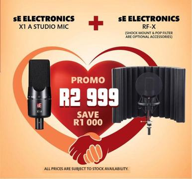 SE Electronics X 1 Condenser microphone and rfx filter