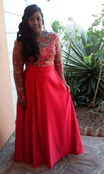Matric ball dress and matching heels for sale