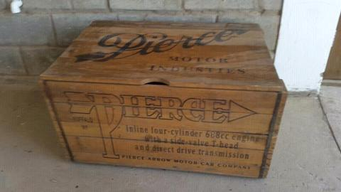 Vintage Pierce Motorcycle Crate