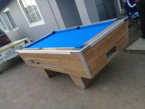 Coin Operated Slate Pool Table