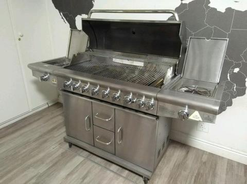 8+3 Burner Alva Minotaur Gas Braai & 9kg Bottle