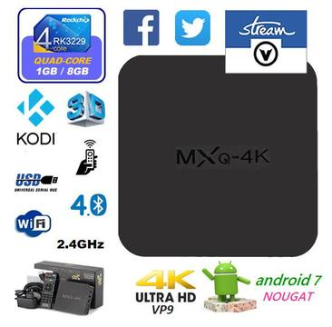 2018 Android 7.1.2 MXQ 4K Ultra HD TV Box - V-Stream South Africa