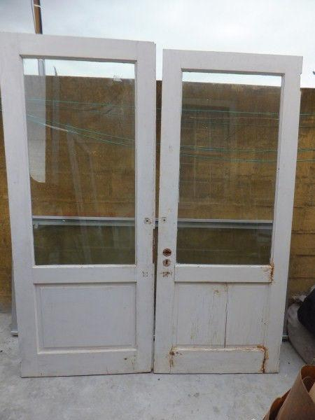 Meranti Double Door Set - fully glazed - Need a little TLC -Priced reduced to clear!