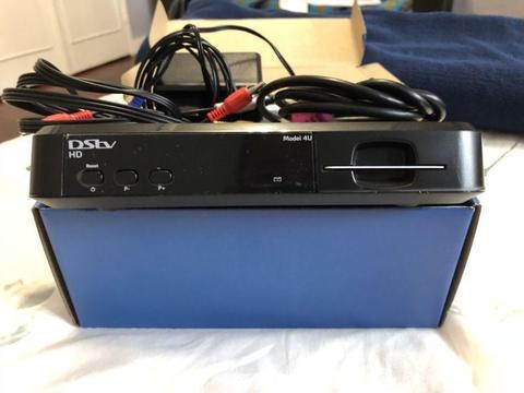 DStv HD Decoder Model 4U + Remote + HDMI + Cables