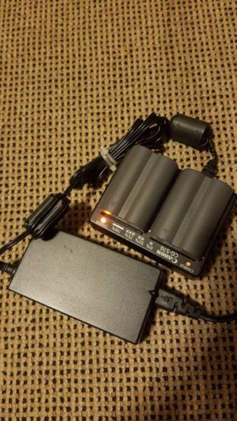 CANON 5D BATTERIES AND CHARGER