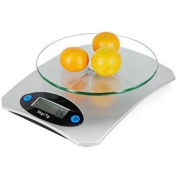 Digital LCD Electronic Glass Kitchen Scales 5kgs