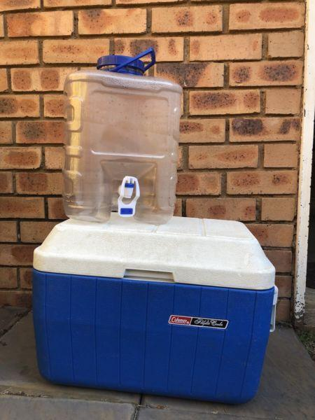 Cooler box and water container for sale