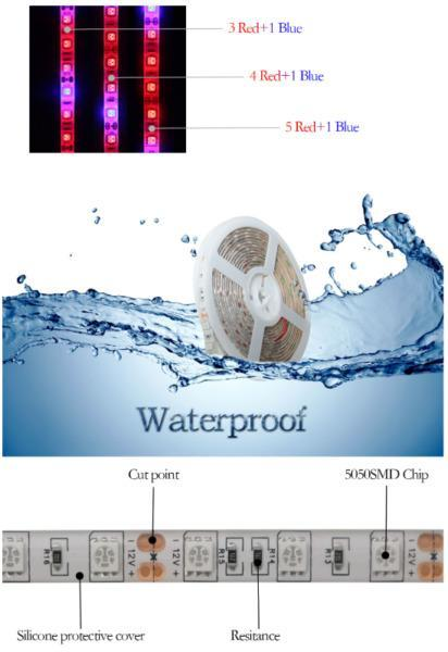 4.5 M LED Strip Light Grow Lights For Greenhouse Hydroponic plant