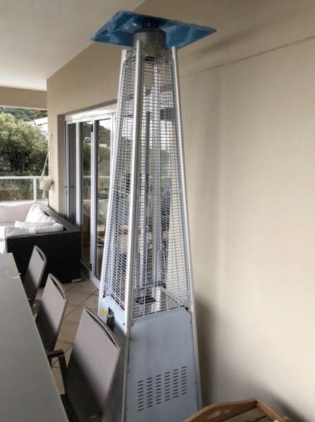 Alva Glass Flame Designer Patio Heater