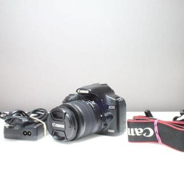 Canon 500d camera with Canon 18-55mm lens