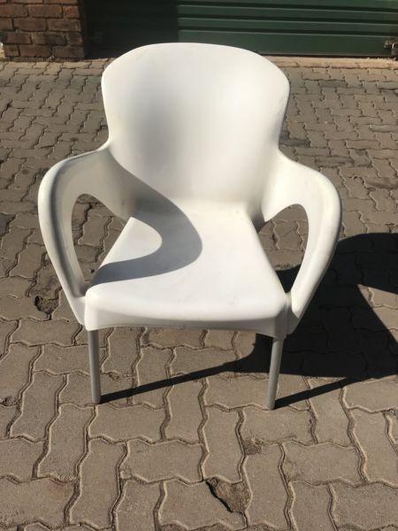 Plain white chairs