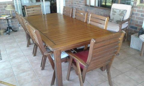 8 Seater Solid Saligna Patio Set