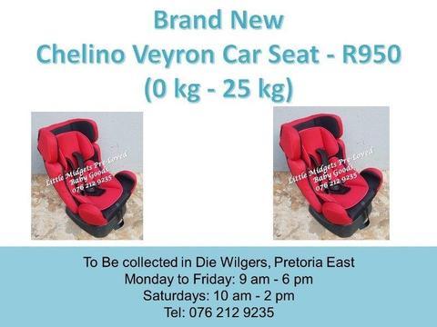 Brand New Chelino Veyron Car Seat (0 kg - 25 kg)