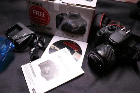18MP Canon 1200D dslr with Canon 18-55mm IS lens for sale