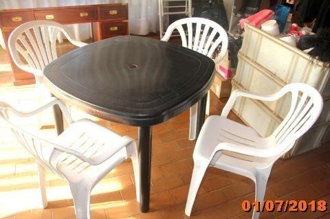 Plastic garden table and chairs for sale
