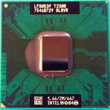 USED Intel SL8VR Core Duo CPU T2300 M Processor 1.66 Ghz 2 Mb Cache FSB 667 LF80539
