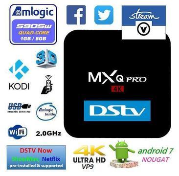2018 Android 7.1.2 TV Box, MXQ Pro, 1GB Ram, 8GB Rom - V-Stream South Africa - EL