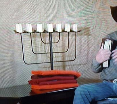 MENORAH - SEVEN-LAMP LAMPSTAND