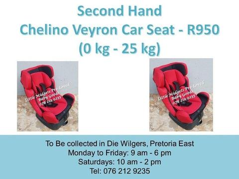 Second Hand Chelino Veyron Car Seat (0 kg - 25 kg)