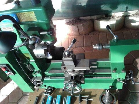 AMCO Metal lathe with Milling machine in 100% working condition