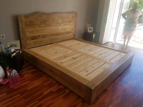 Solid French Oak King Size beds and other Custom Furniture
