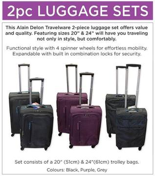 2 Piece Luggage Sets For Sale