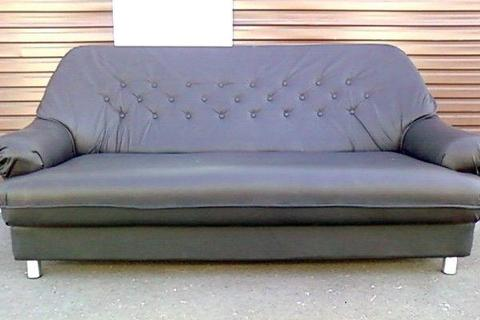 3 Seater Leather Couch R1500. Only a year old!!!