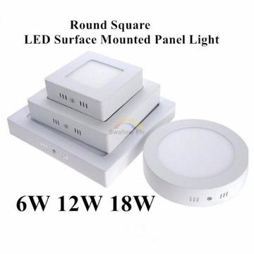 6W 12W 18W 24W No Cut Round Square LED Surface Mounted Panel Light Downlight lighting