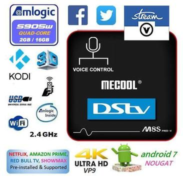2018 Android 7.1.2 TV Box, MeCool M8S, 2GB Ram, 16GB Rom - V-Stream South Africa - EL