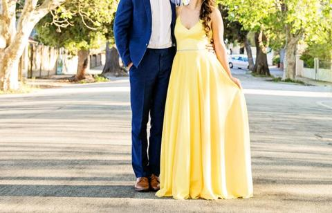 YELLOW MATRIC FAREWELL (EVENT)DRESS FOR SALE!