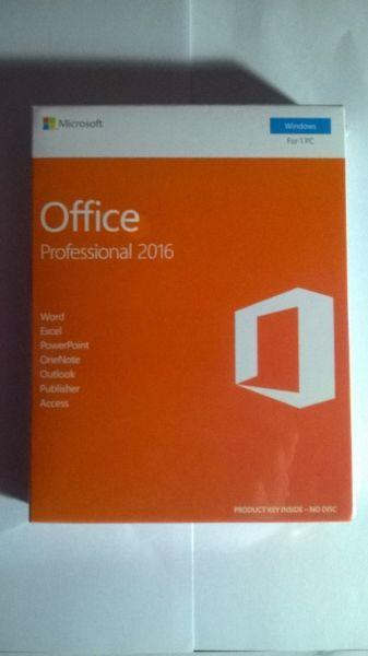 Microsoft Office 2016 Professional Sealed Retail Packaged Item for Sale at Bargain Price