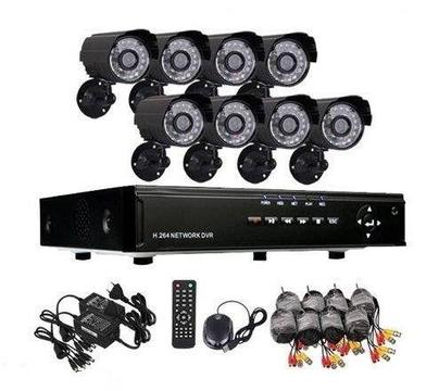 8 Channel 8 Camera AHD CCTV System With Internet and 3G Phone Viewing