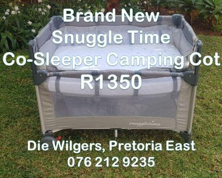 Brand New Snuggle Time Co-Sleeper Camping Cot