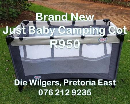 Brand New Just Baby Camping Cot