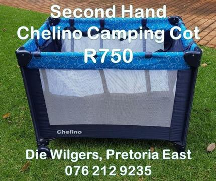 Second Hand Blue Chelino Camping Cot