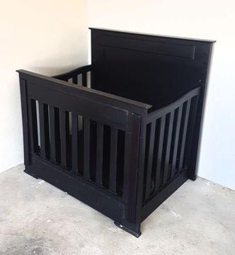 Dark Mahogany Used Baby Cot