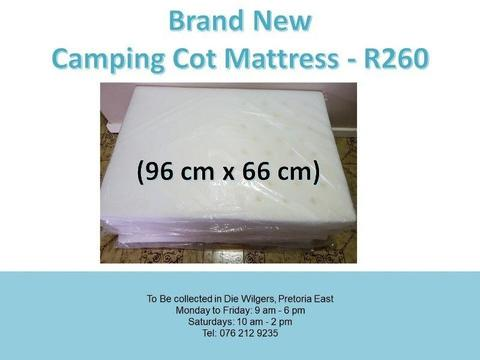 Brand New Camping Cot Mattress (96 cm x 66 cm)