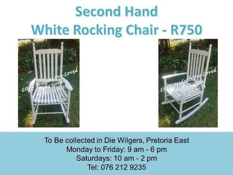 Second Hand White Rocking Chair