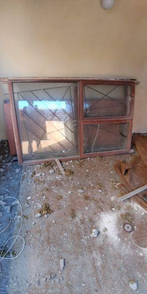 Meranti window frame