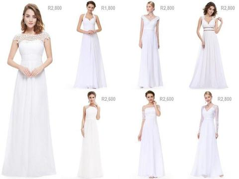 Wedding dresses - affordable and elegant