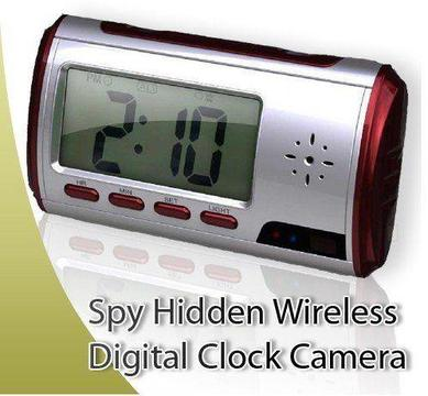 NANNY CAM - HIDDEN CAMERA CLOCK -MOTION DETECTION-PICTURE TAKING- AUDIO RECORDING