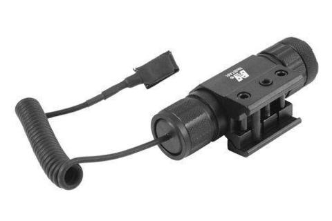 NC STAR TACTICAL LASER WITH PRESSURE SWITCH AND WEAVER MOUNT - GREEN DOT LASER