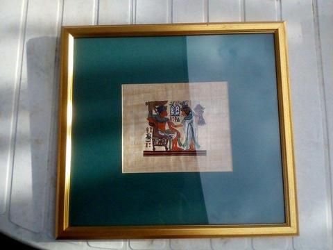 Vintage Egyptian Art on Papyrus