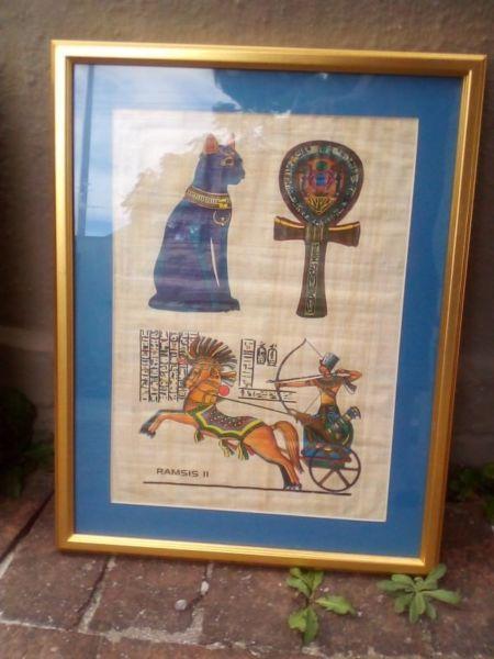 Vintage Egyptian Papyrus Print