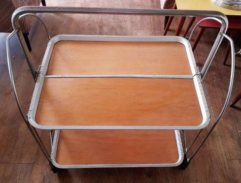 Vintage Folding Tea Trolley