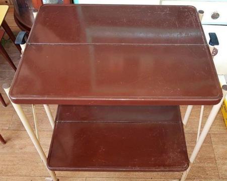 WP Johnson Company Vintage Enamel Folding Trolley