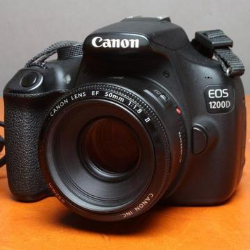 18MP Canon 1200d dslr with Canon 50mm f1.8 lens for sale