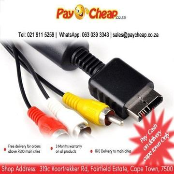 2m AV Cable for PS3/ PS2 AV Component TV Video Cable for Playstation 3 PS3 High quality for PS2/3 Ga