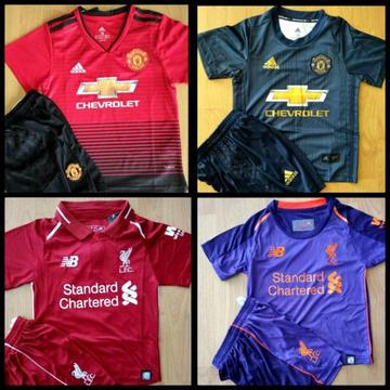Brand new Season 2018/2019 Kiddies kits for sale . Limited Stock !