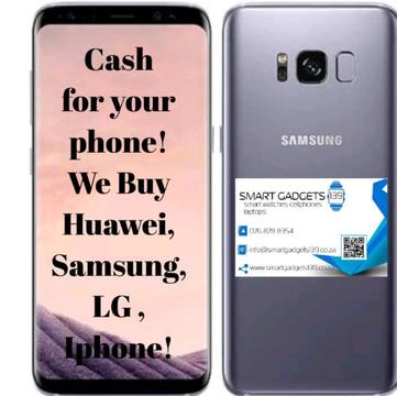 TOP CASH PRICES PAID FOR YOUR PHONE - IPHONE/ SAMSUNG/ HUAWEI/ LG